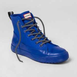HUNTER High-Top Blue Canvas/Rubber Shoes